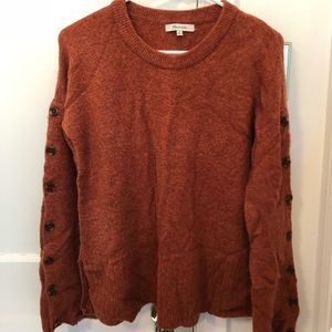 Madewell button sleeve pullover sweater